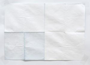 Das berühmte weiße Blatt